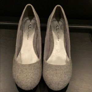 CL by Laundry tweed wedge pumps